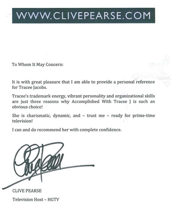 testimonial from Clive Pearce