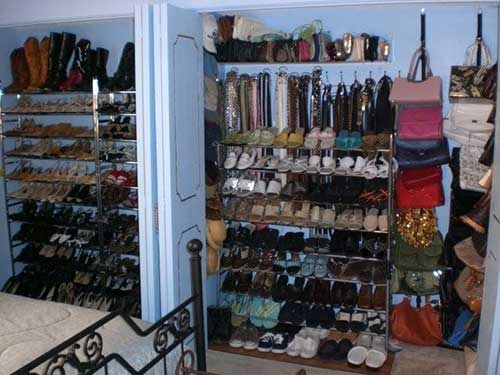 Organized shoe closet AFTER