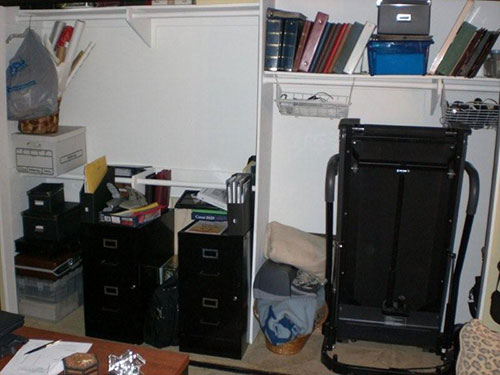 home office closet BEFORE
