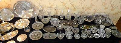 Estate Sale - crystal displayed on a table