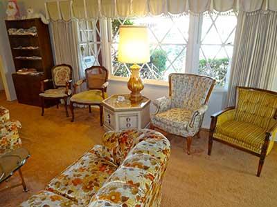 Estate Sale - furiniture items on display