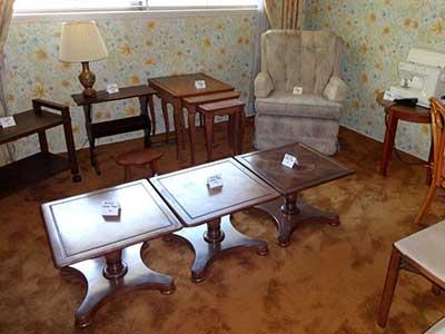 Estate Sale - furniture on display for sale