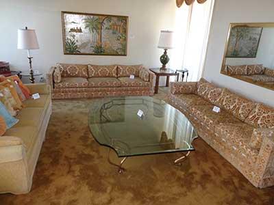 Esate Sale - living room furniture on display