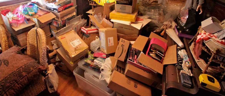 A very messy room.