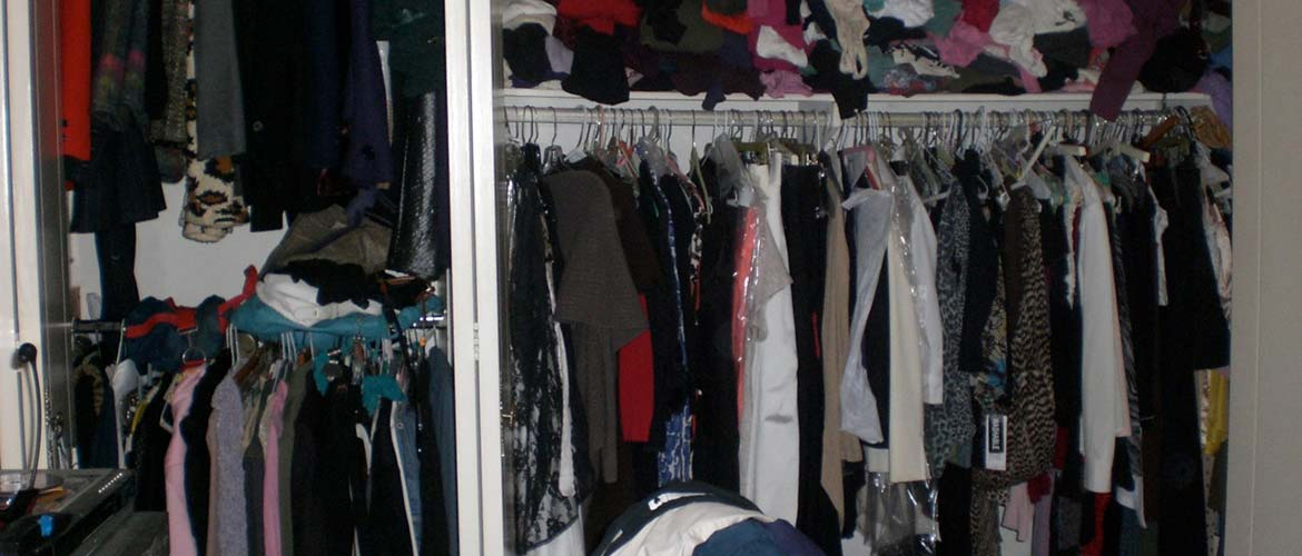 messy clothes closet